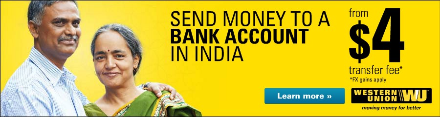 Send over $1000 to an Indian bank account for zero fee