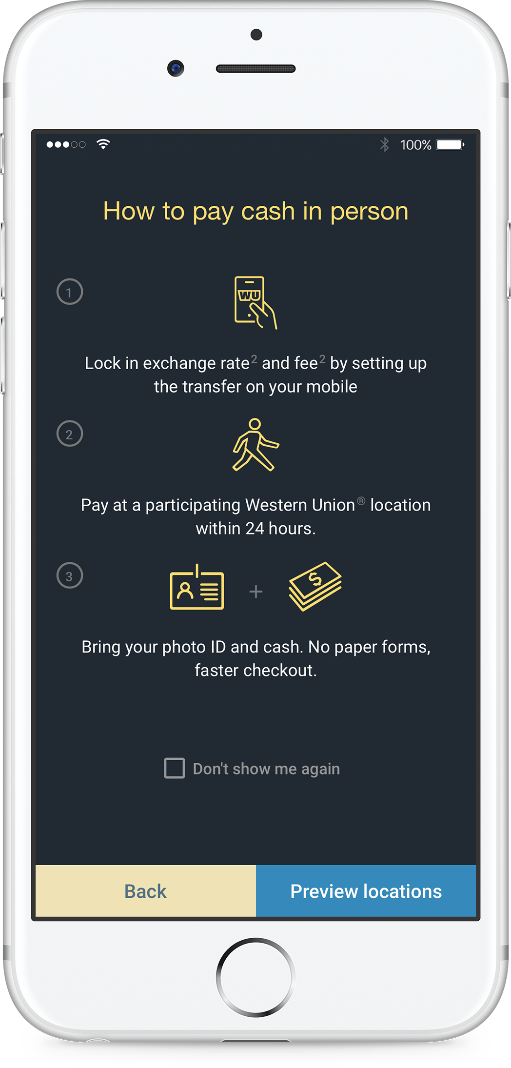 How To Start Your Money Transfer On The Western Union App In Singapore Wiring From Us Ireland Pay Cash At An Agent Location