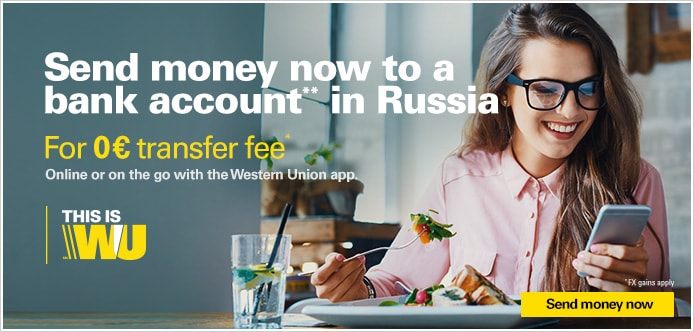 Send money online to Russia using your mobile or our website – simple, fast, and reliable