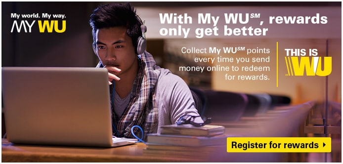 Join My WU and get rewarded for sending money online.