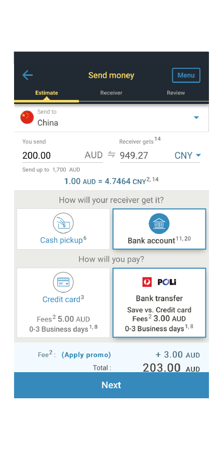 Send Money To China From Australia