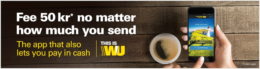 WU App and cup of coffee