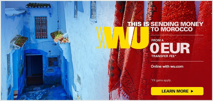 Send money to Morocco with Western Union the way you like.