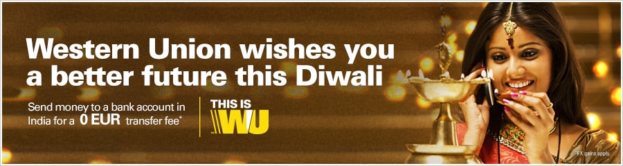 Moving money for better together for a happy and bright Diwali.