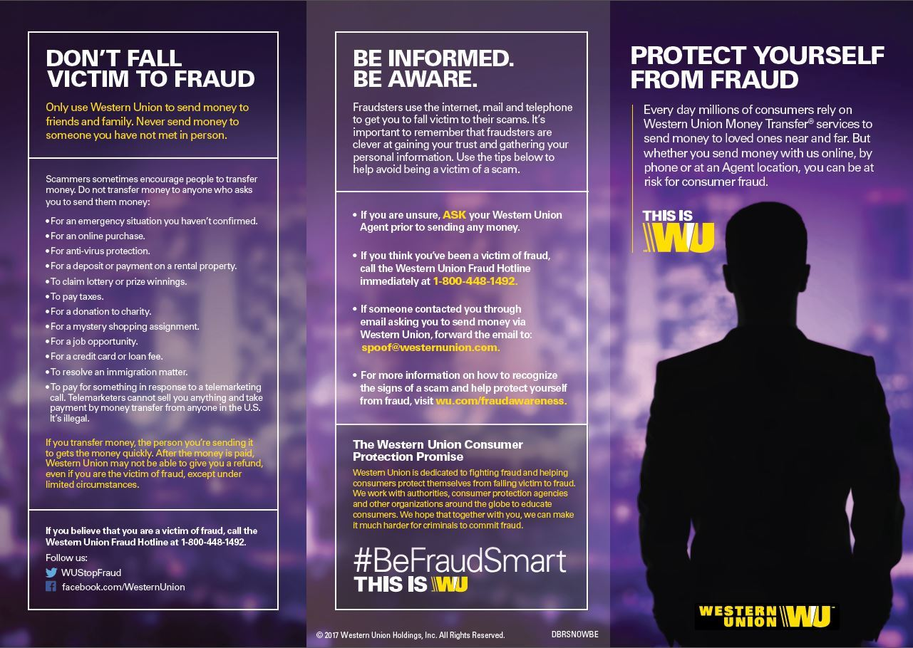 Get educated about fraud western union