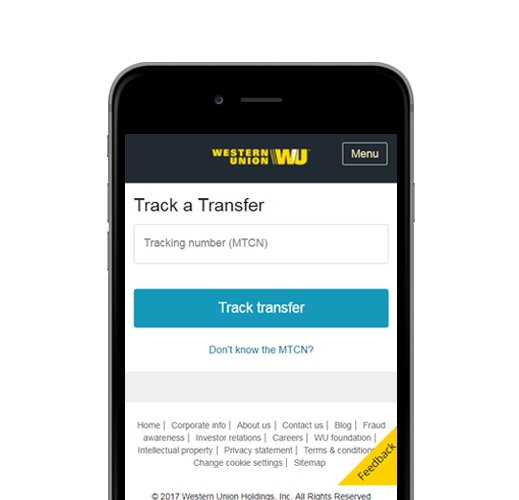 Track your transfer anytime