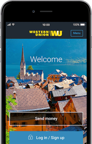 mobile phone with WU app