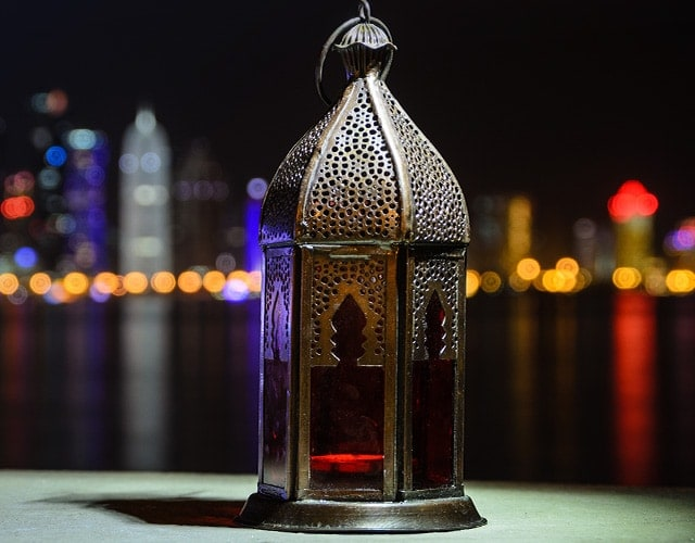 Indian lamp in the night