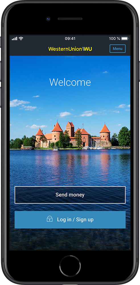Application screen - send money