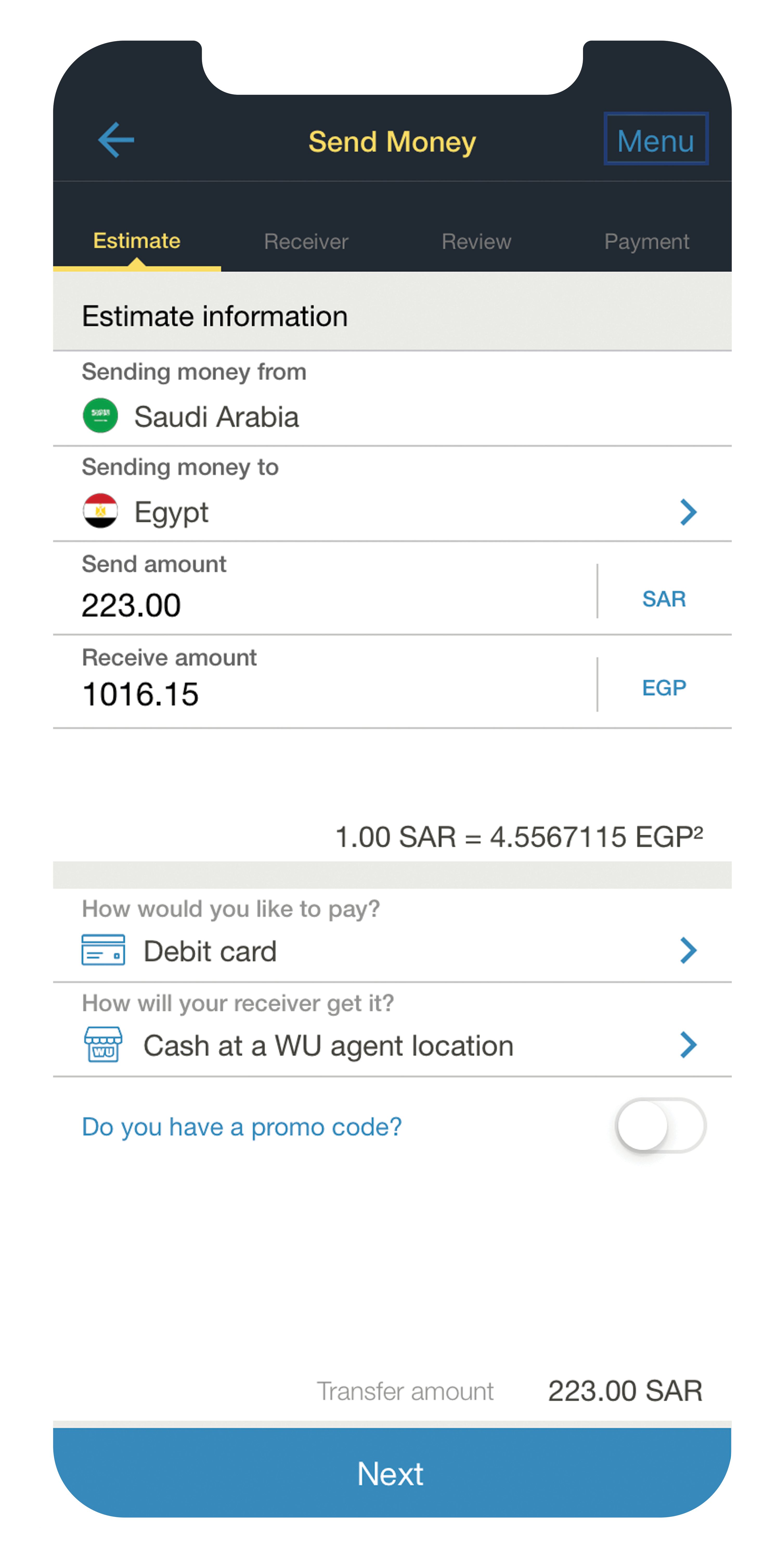 Money Transfers From Saudi Arabia