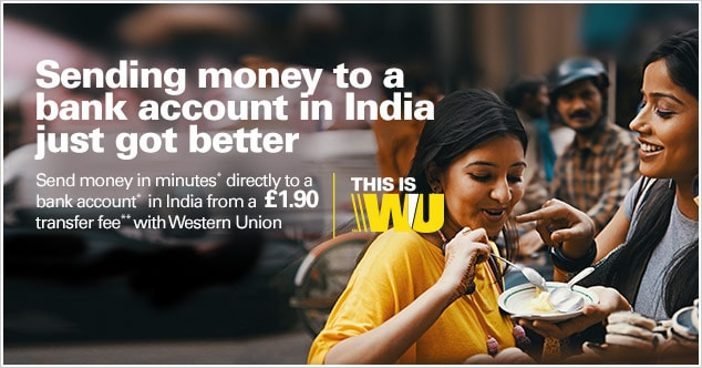 how to send money to uk from india