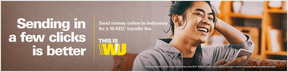 Send money online to Indonesia with Western Union