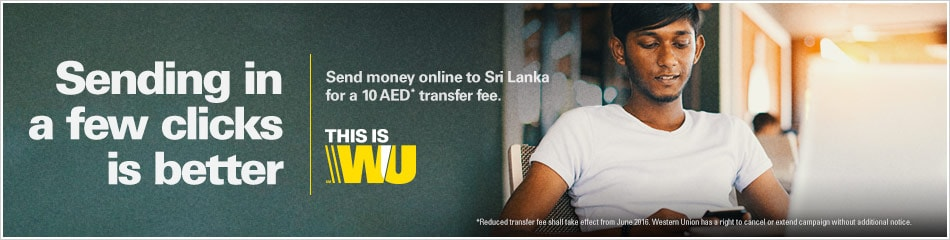 Send money online to Sri Lanka with Western Union