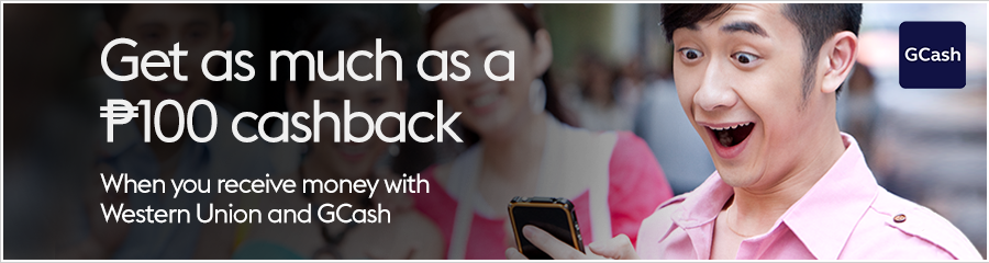 Get a ₱100 cashback with GCash | Western Union Philippines