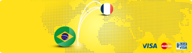 Send money online to Brazil