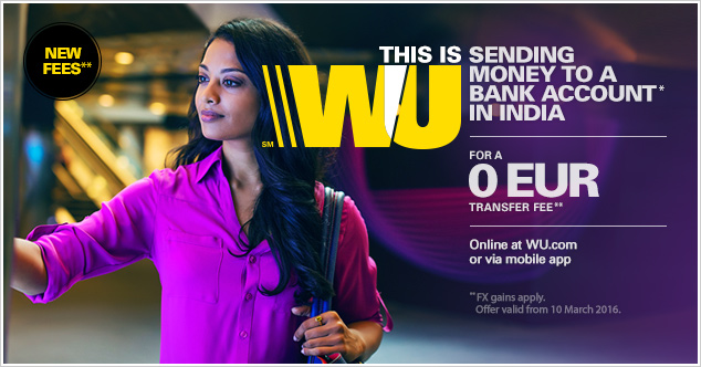 Western union forex rates in india