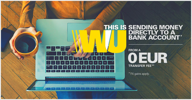 It's easy and practical to send money to a bank account* with Western Union