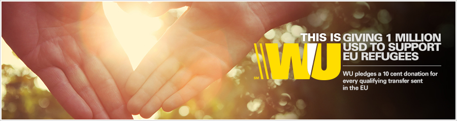 Western Union offers help during this humanitarian crisis.