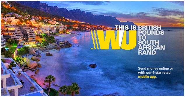 Send money to South Africa with Western Union.
