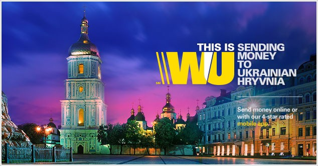 Send money to Ukraine with Western Union.