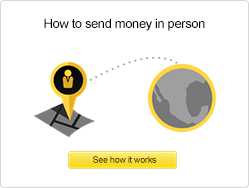 How to send money in person