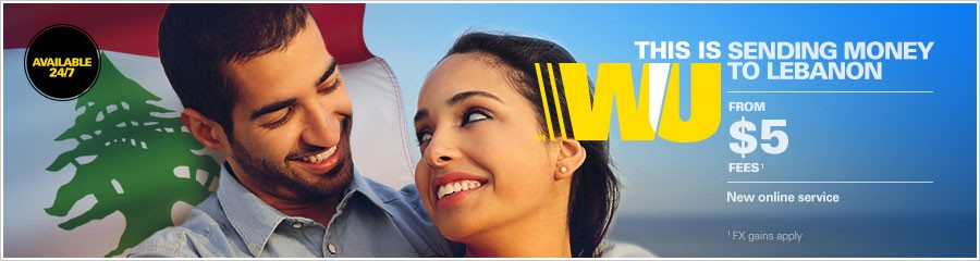 Send money to Lebanon with Western Union online